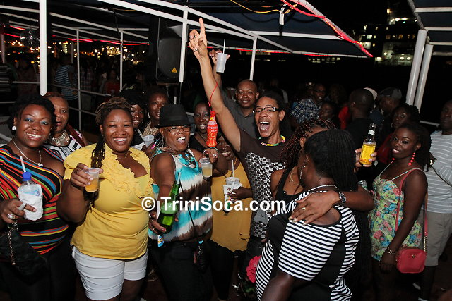 Kaiso lovers celebrating aboard the Coral Vision