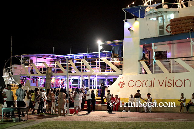 Patrons board the Coral Vision for the TUCO boat cruise
