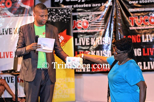 The drawing of positions with TUCO representatives Bernice Carr and 2012 National Calypso Monarch, Duane O'Connor