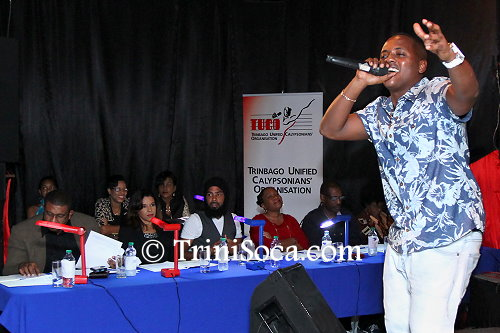 Guest performance by Roderick 'Chucky' Gordon, Trinidad and Tobago 2014 and 2015 Calypso Monarch