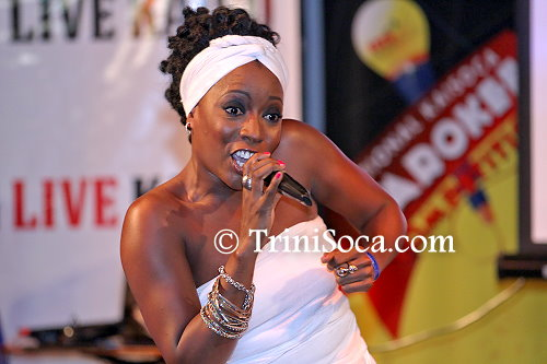 "Moricia Cagan performs ""Bring Back the Power"" at the TUCO National Kaisoca Karaoke Finals"