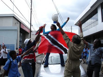 Spontaneous Celebrations in Port of Spain - Photos